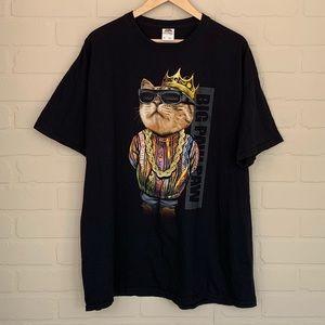 Cat coogie shirt big paw paw biggie smalls xl king